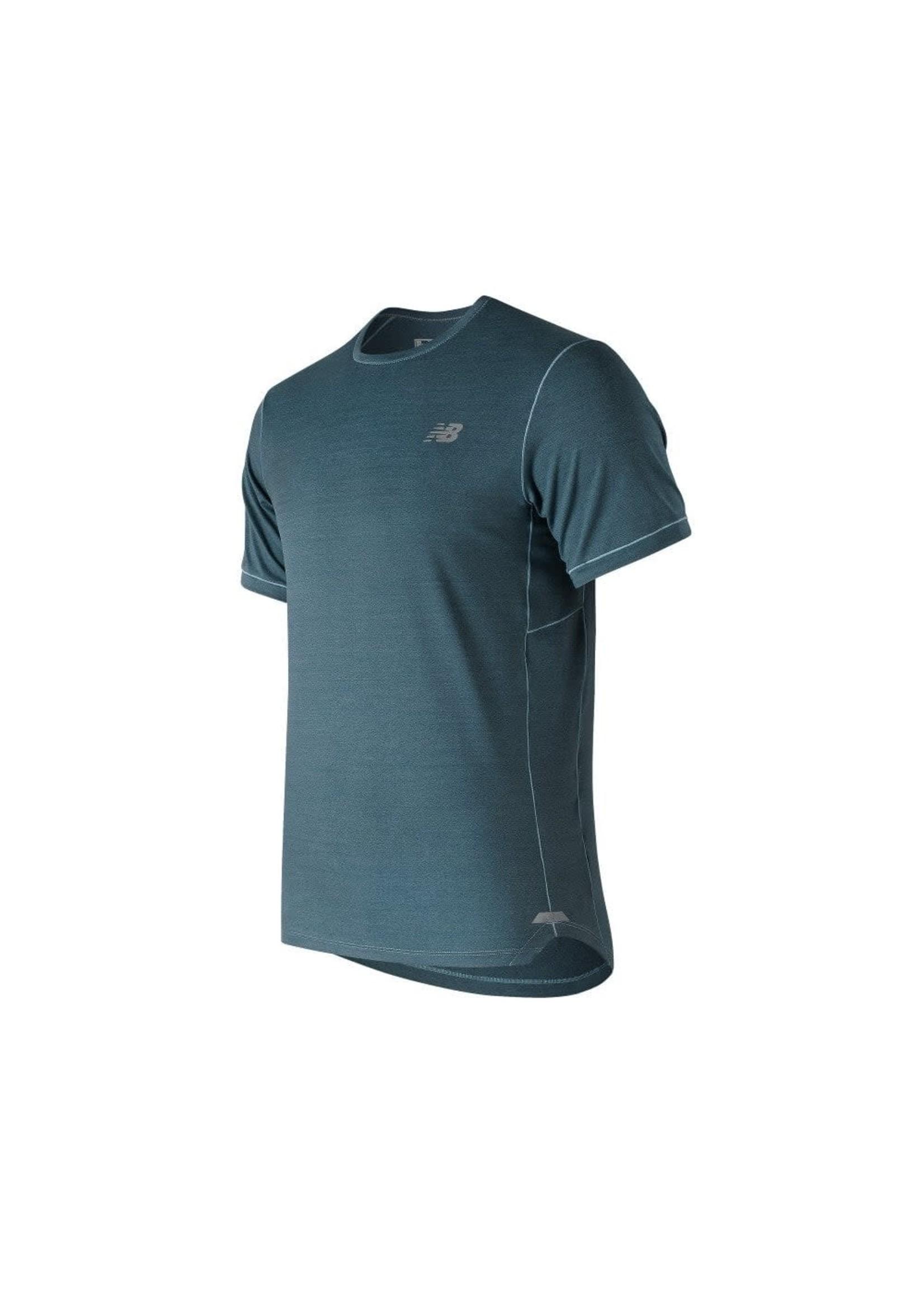 new balance New Balance Mens Seasonless Short Sleeve T-Shirt Blue XL