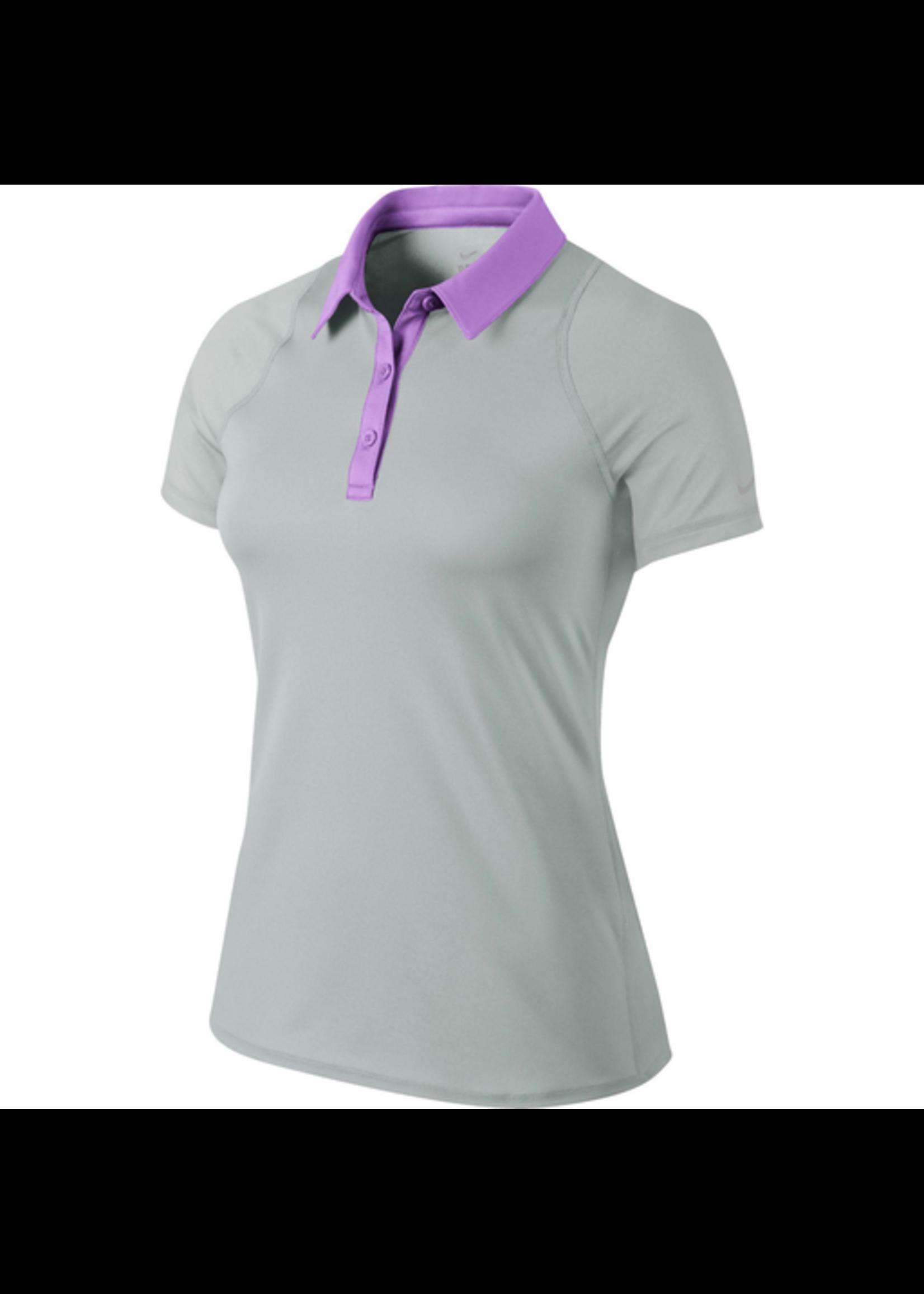 Nike Ladies 599042 Polo Shirt Grey/Lilac S