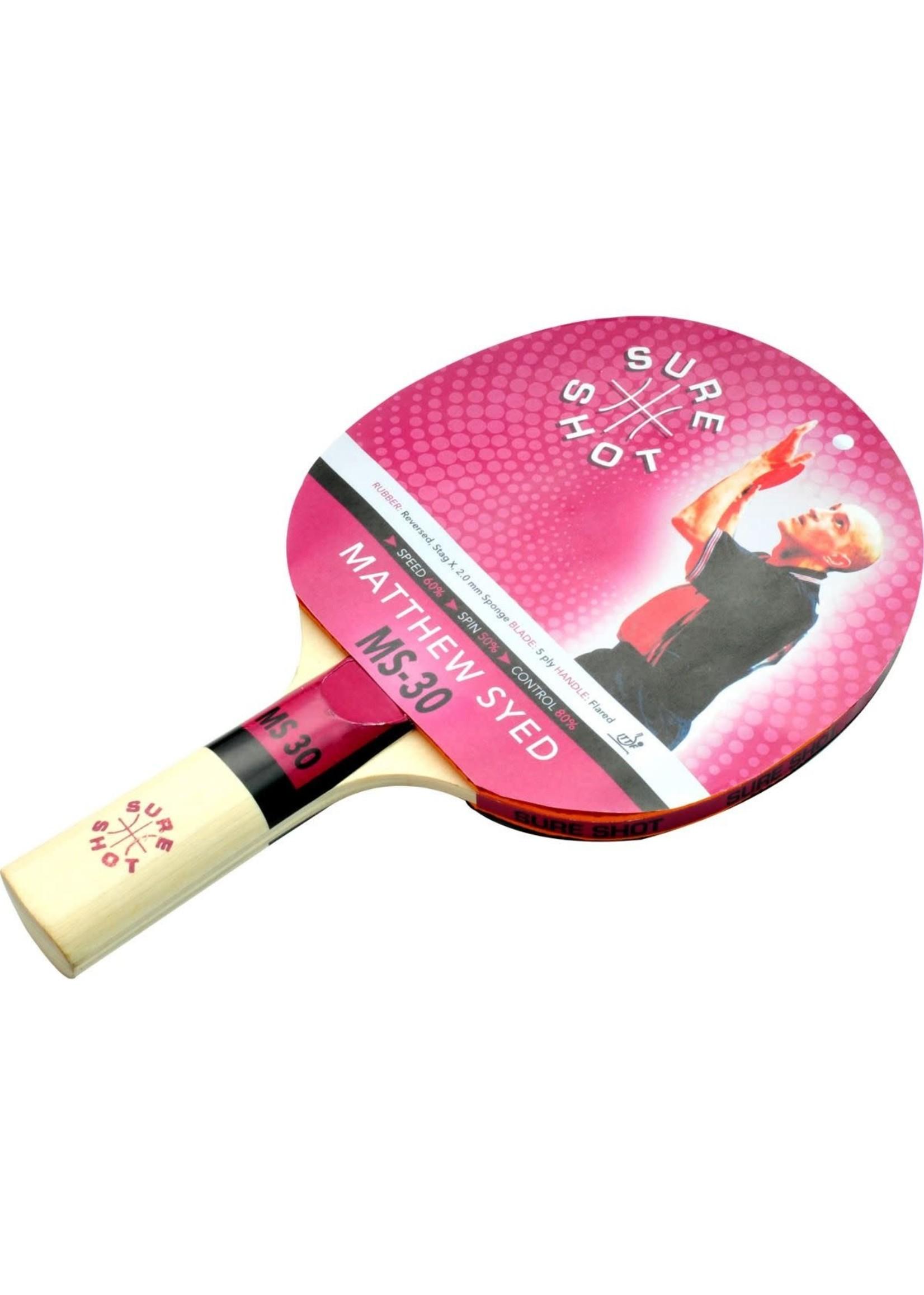 Sure Shot Matthew Syed 30 Table Tennis Bat