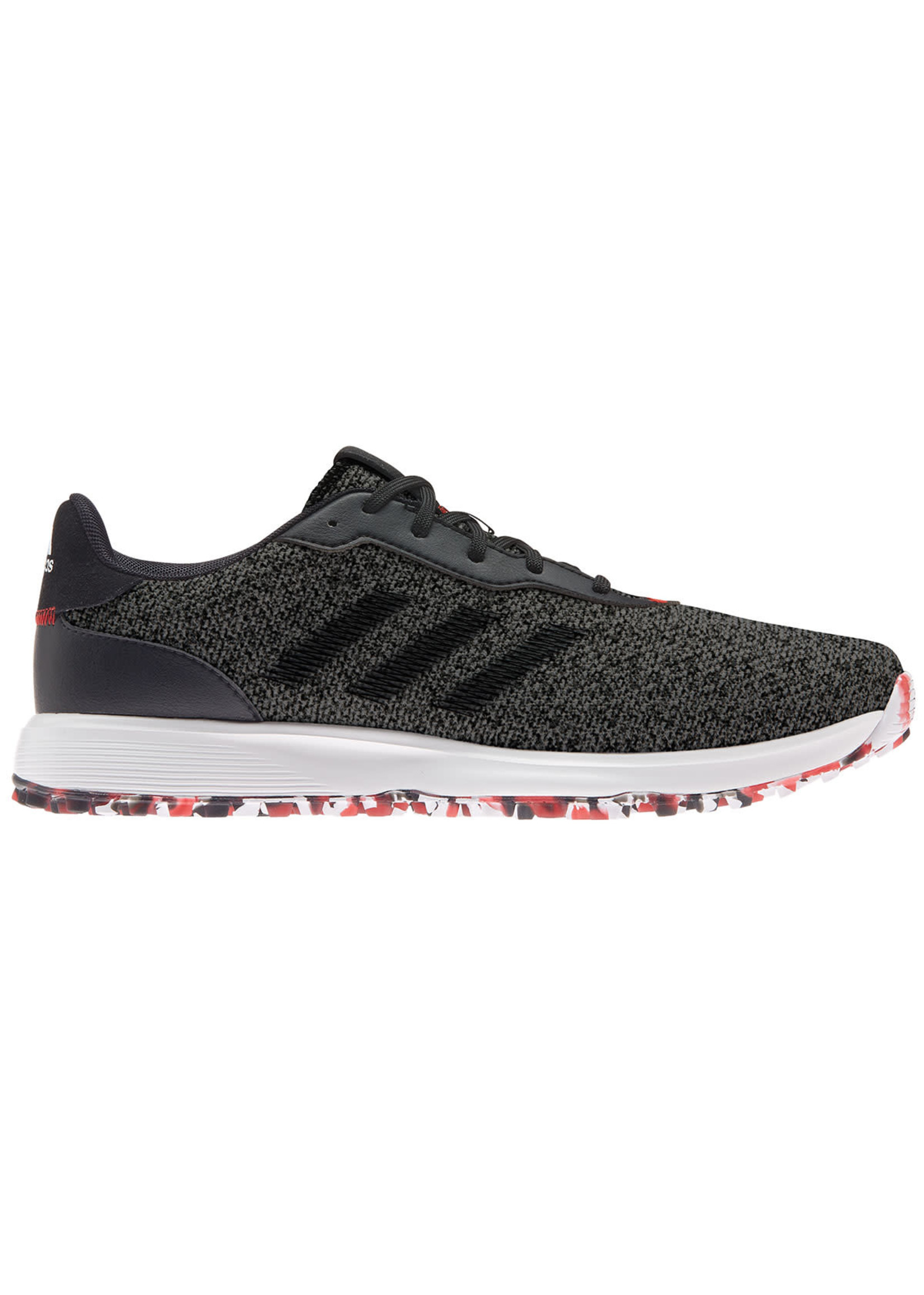 Adidas Adidas S2G Mens Spikeless Golf Shoe, Grey / Black / Scarlet (2021)