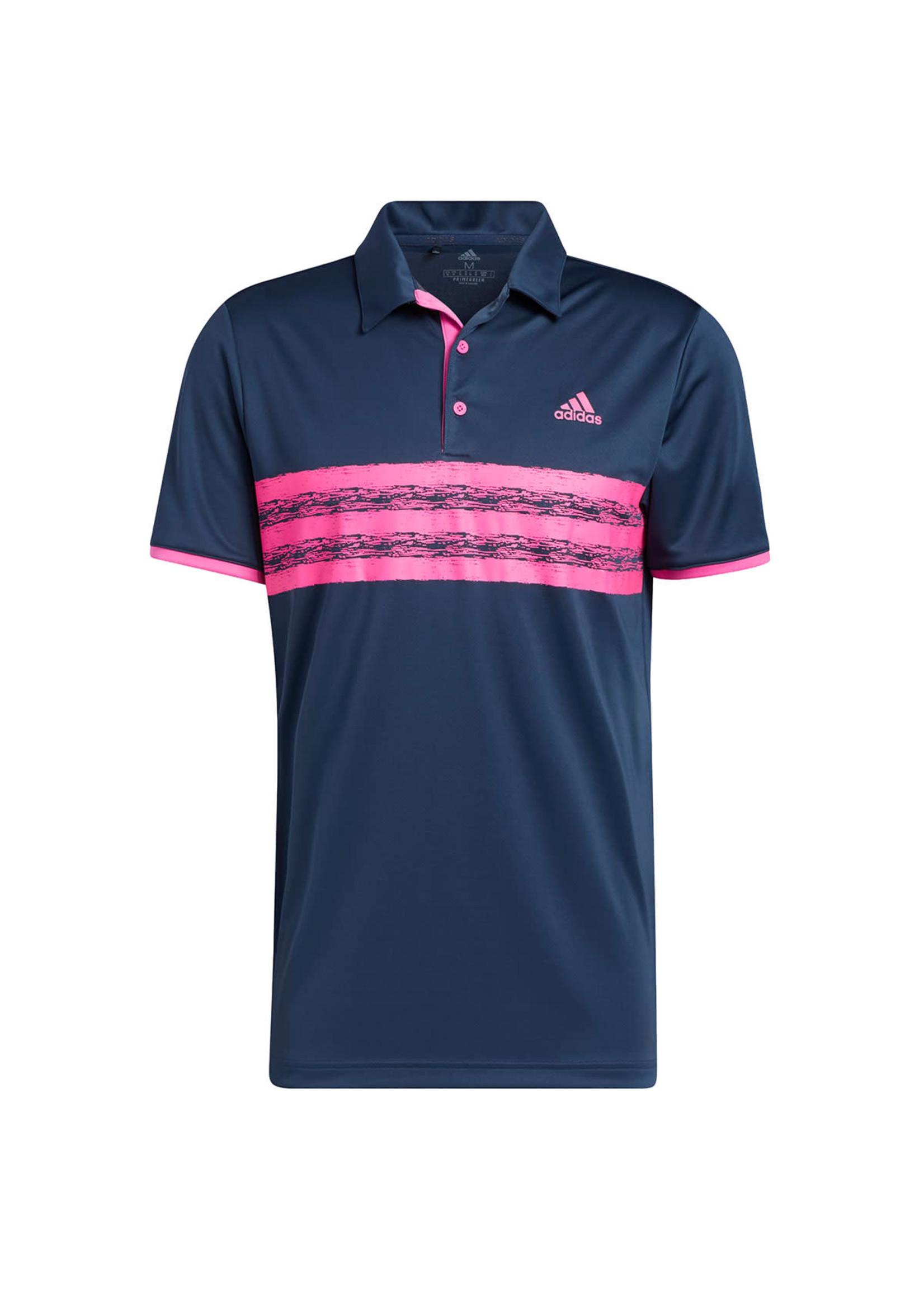 Adidas Adidas Mens Core Golf Polo Shirt, Navy/Pink, (2021)