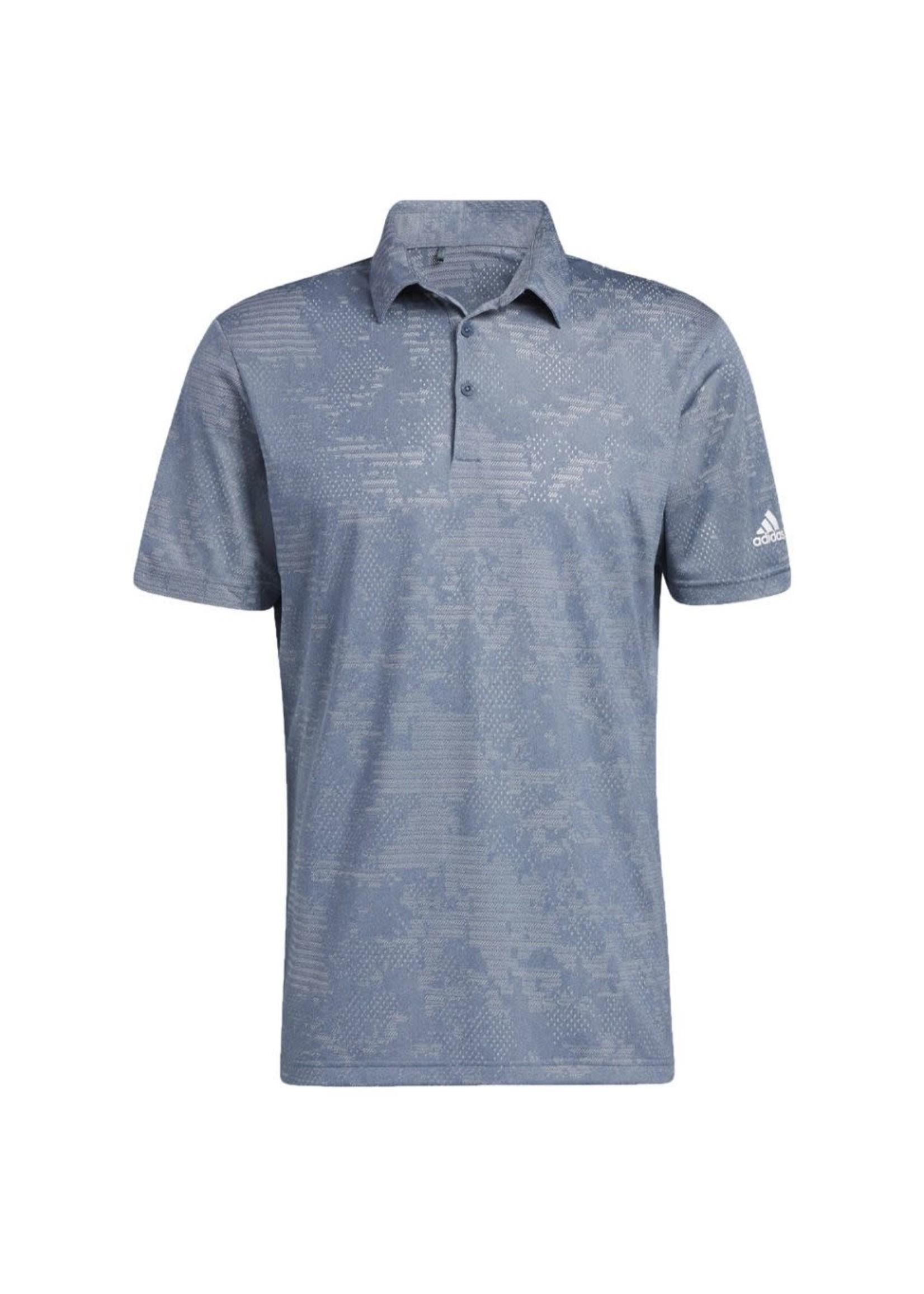 Adidas Adidas Camo Mens Polo Shirt, Grey, (2021)