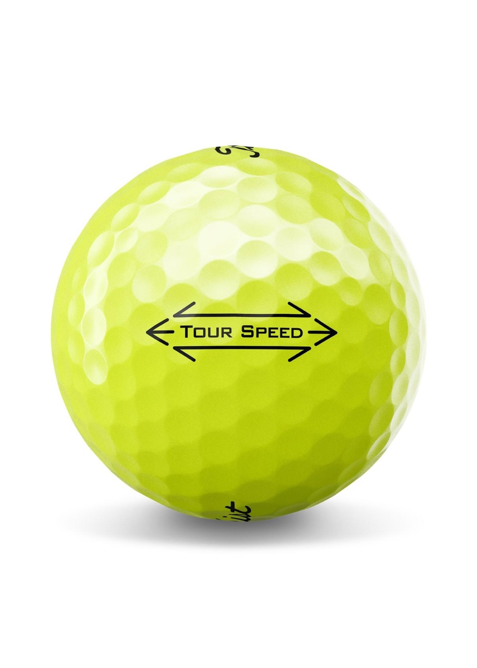 Titleist Titleist Tour Speed Dozen Pack Golf Balls (2021) - Yellow