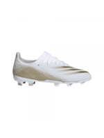 Adidas Adidas X Ghosted.3 FG Junior Football Boot, White/Gold, (2021)