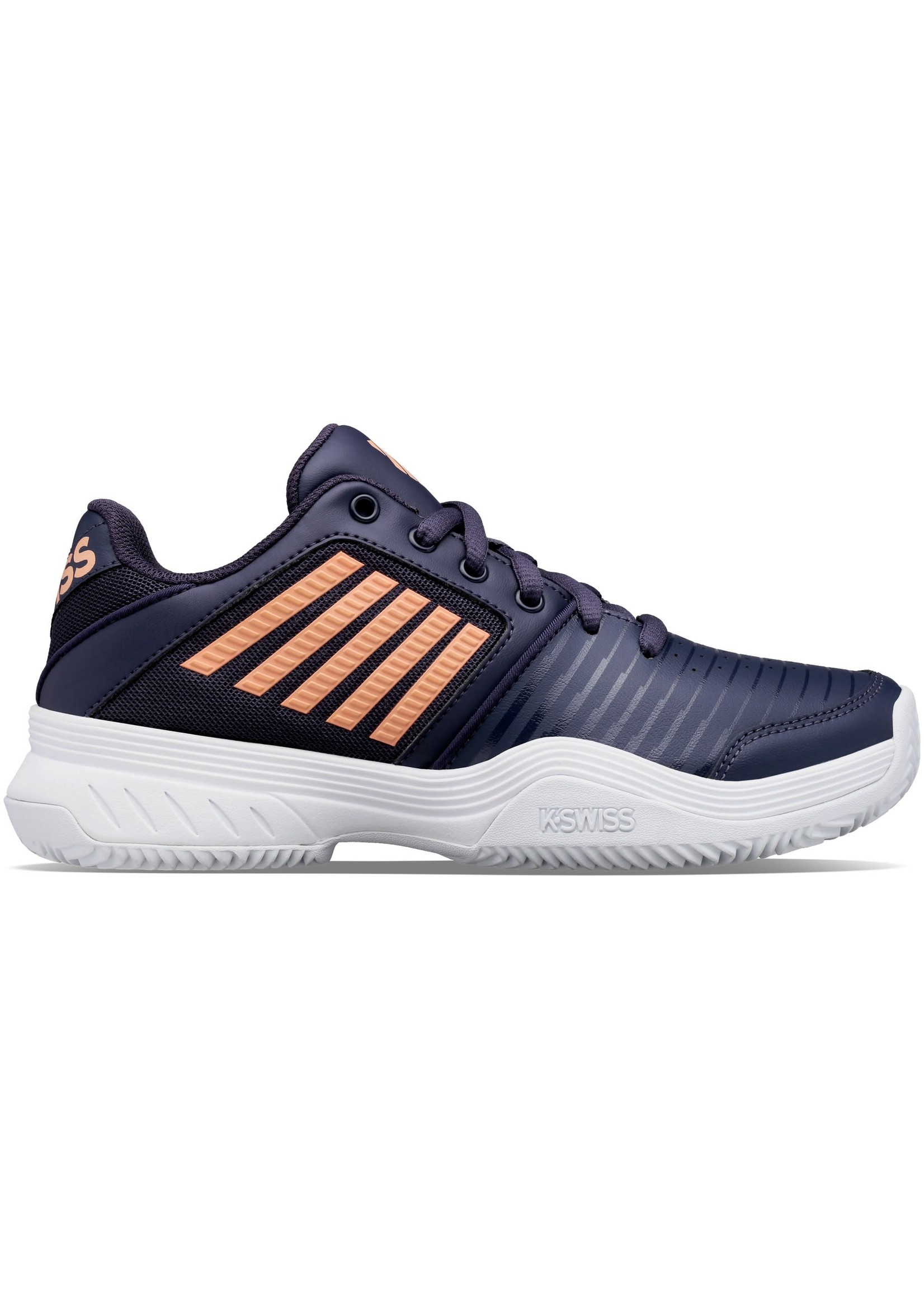 K Swiss K Swiss Court Express HB Ladies Tennis Shoe (2021) - Navy/Peach