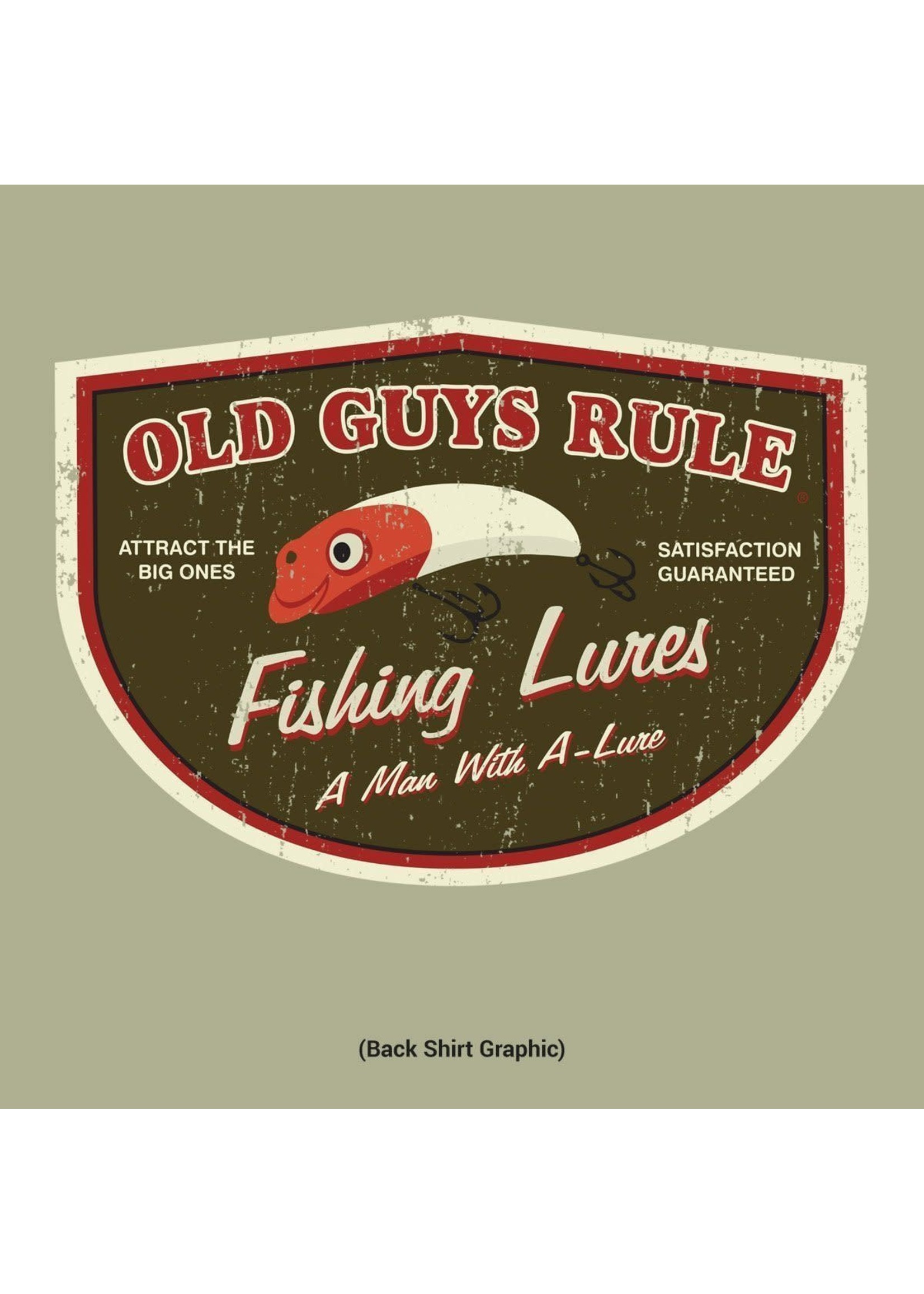 Old Guys Rule Old Guys Rule T-Shirt - Man with A-Lure M
