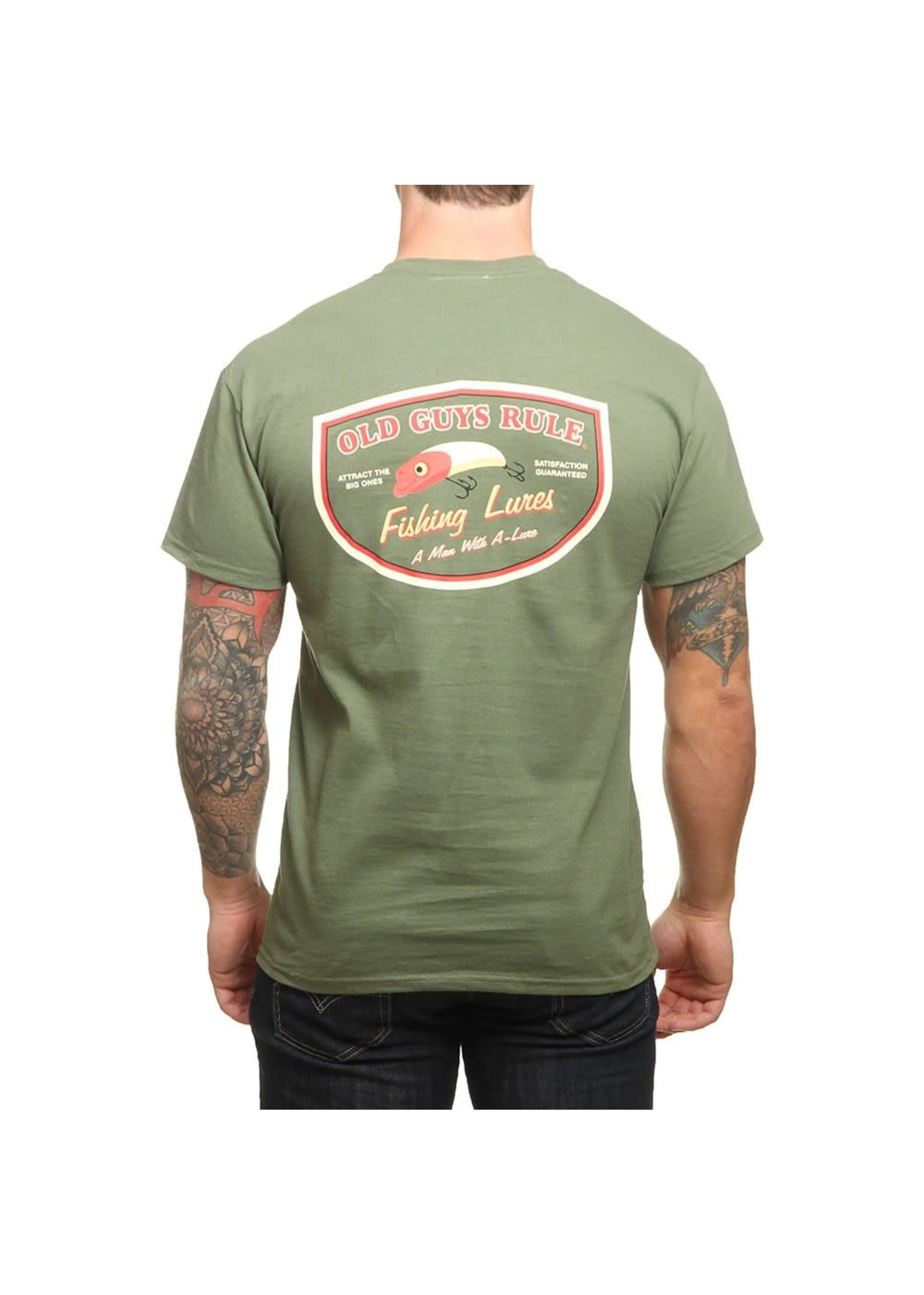 Old Guys Rule Old Guys Rule T-Shirt - Man with A-Lure L