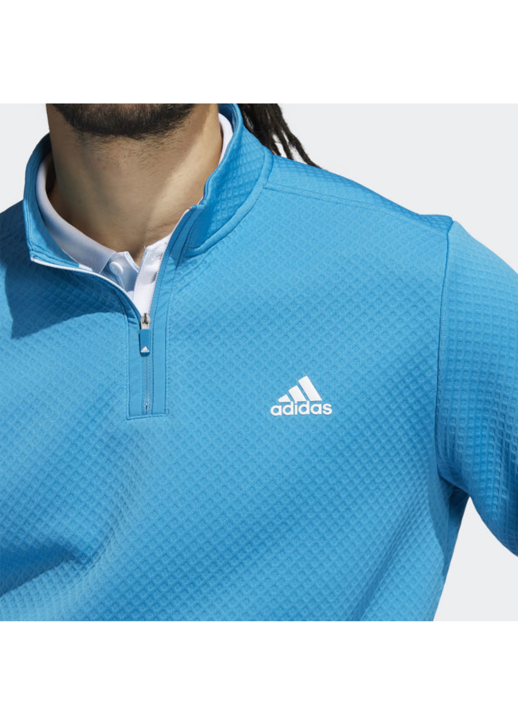 Adidas Adidas Prime Green Water Resistant Mens Golf Top (2021) - Sonic Aqua