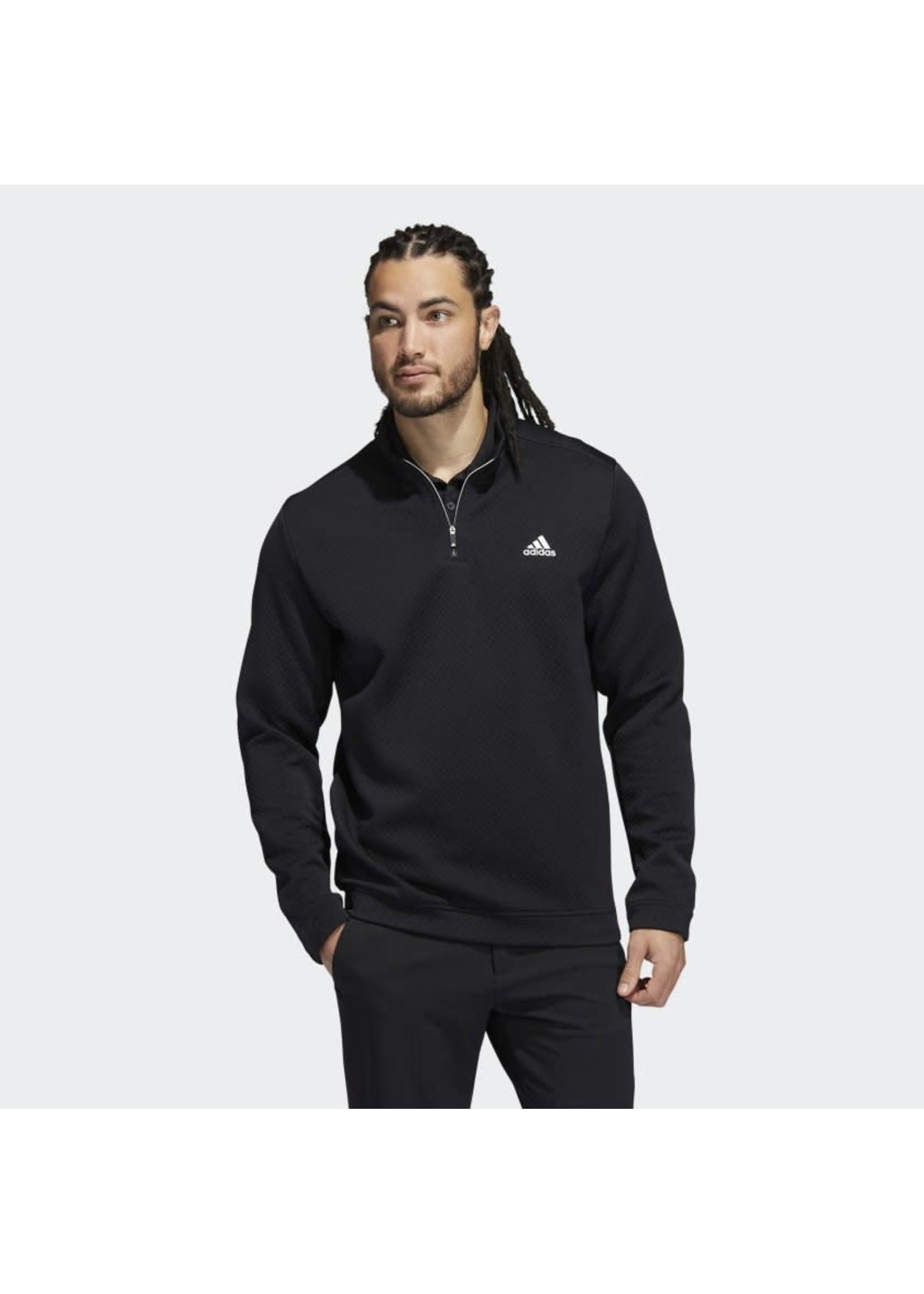 Adidas Adidas Prime Green Water Resistant Mens Golf Top (2021) - Black