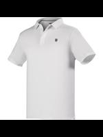 K Swiss K-Swiss Hypercourt Gents Polo Shirt White/Gull Grey S
