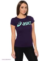 Asics Asics Ladies Training Logo Tee 122863 Aqua Mint L