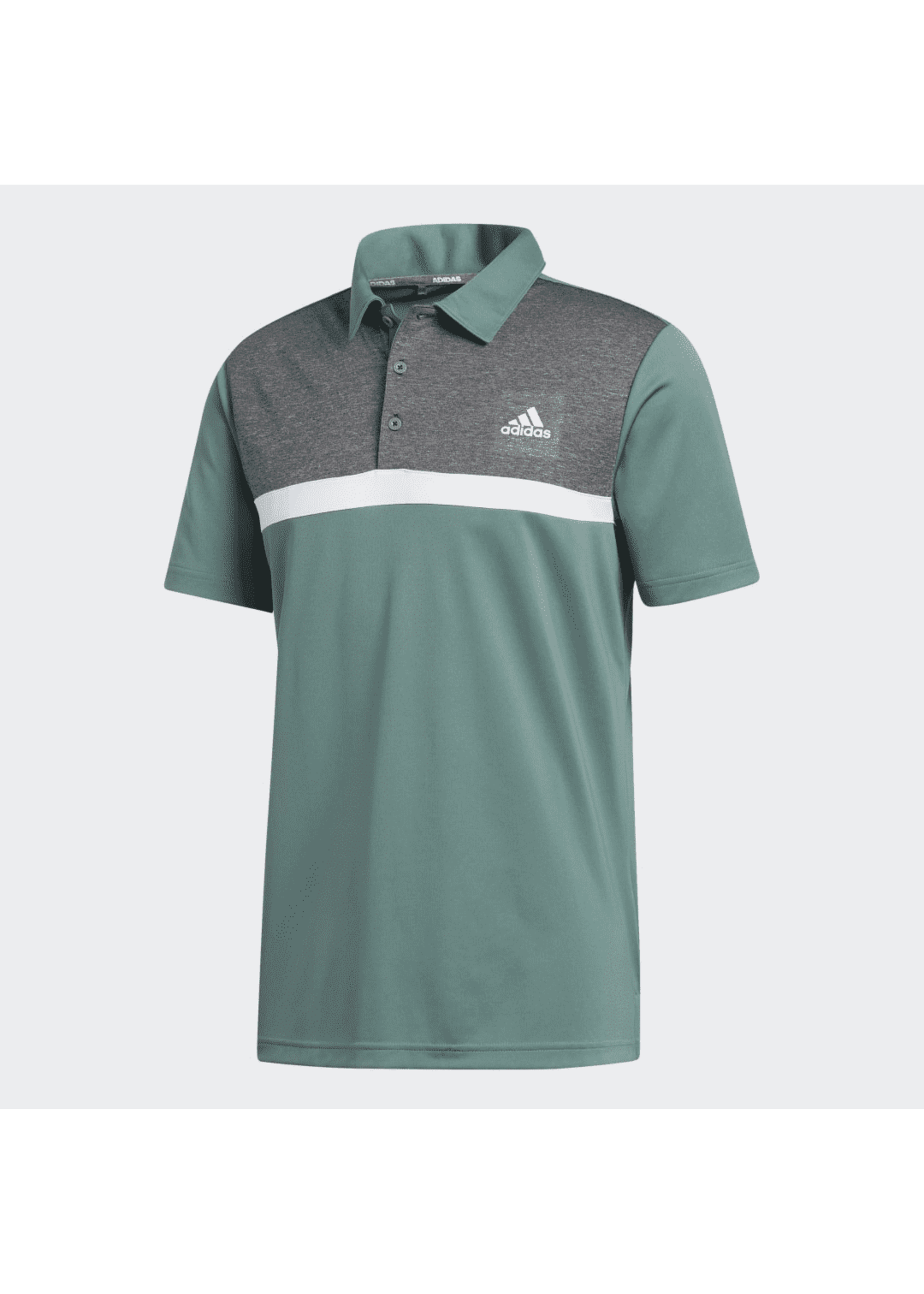 Adidas Adidas Novelty Colorblock Mens Polo Shirt, Green/Grey