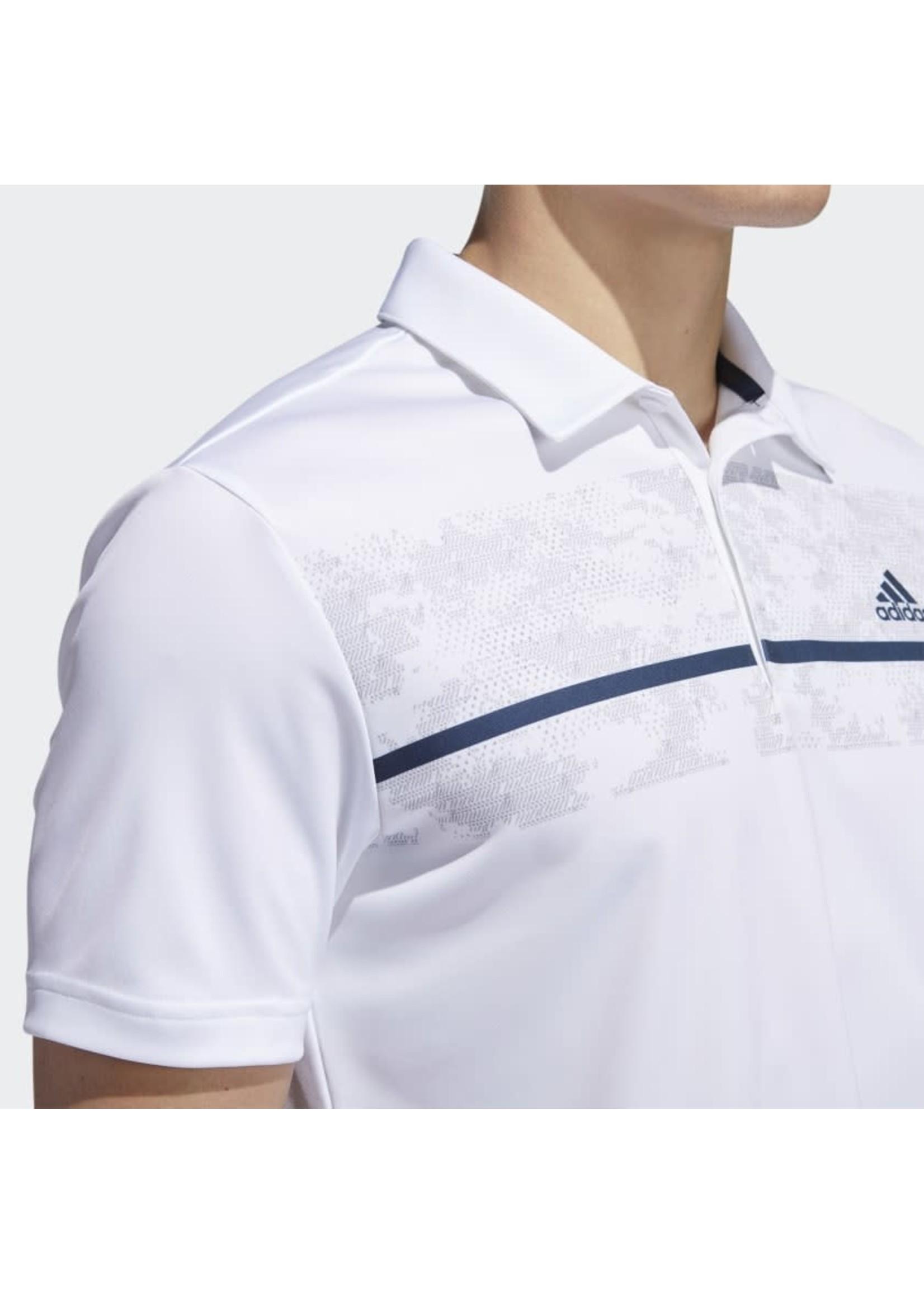 Adidas Adidas Chest Print Prime Green Mens Polo Shirt (2021)