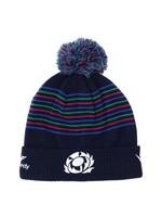 Macron Marcon Scotland Rugby - PomPom Beanie Hat, Navy/Purple/Royal