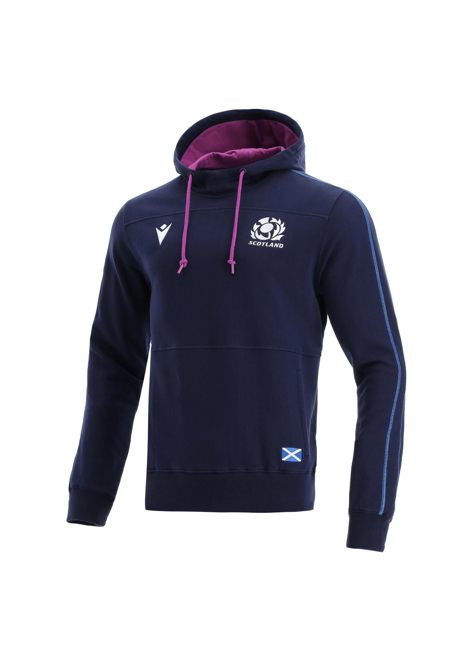 Macron Macron Scotland Rugby - Heavy Cotton Hoody (2021/22) - Navy