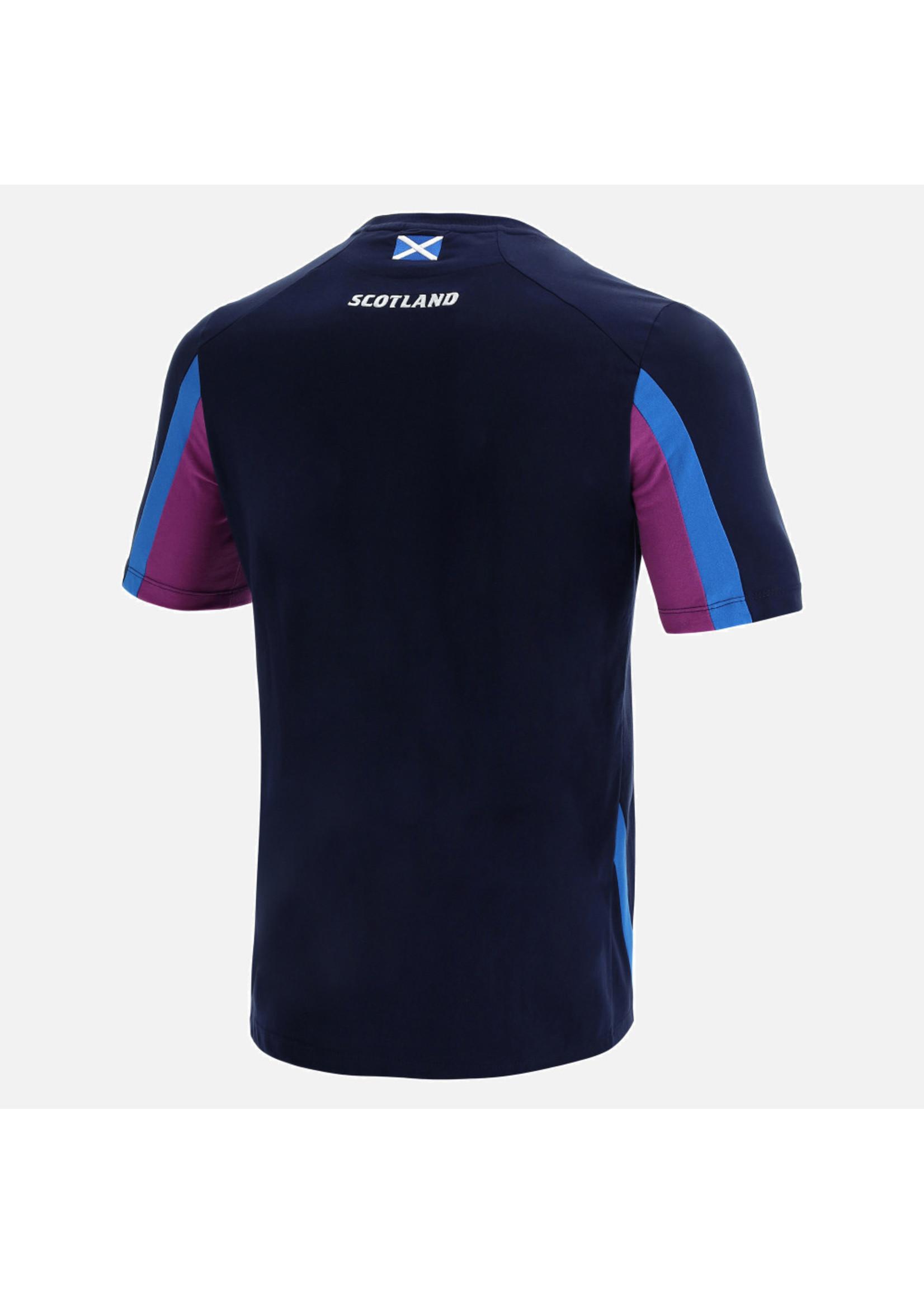 Macron Macron Scotland Rugby - Junior Official Travel T Shirt (2021/22)  Navy/Purple/Royal