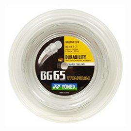 Yonex Yonex BG65Ti Badminton String - 200m Reel - white