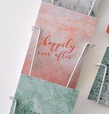 """Wenskaart Marble """"Happily ever after"""""""