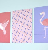 """Wenskaart Tropical-birds """"Toekan motief"""""""