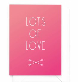 "Wenskaart Gradient ""Lots of love"""