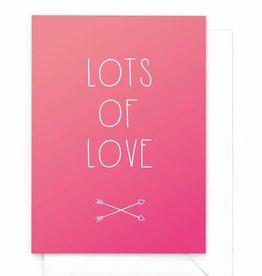 """Wenskaart Gradient """"Lots of love"""""""