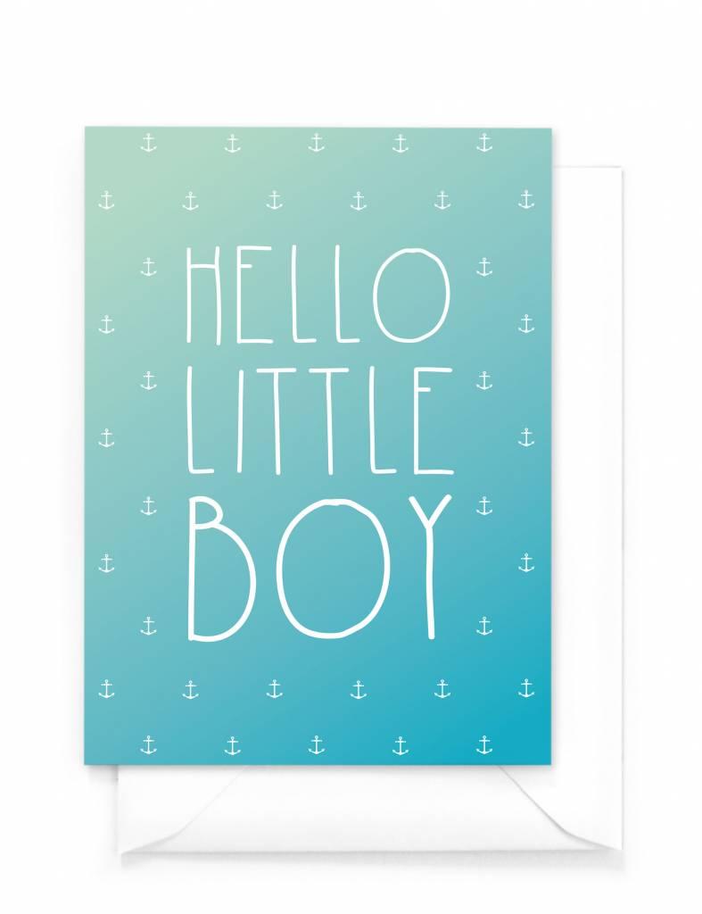 Wenskaart - Gradient - Hello little boy