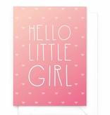 Wenskaart - Gradient - Hello little girl