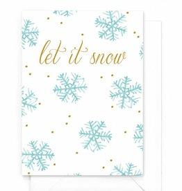 """Wenskaart Kerst """"Let is snow'"""