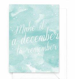 """Wenskaart Kerst """"Remember december"""""""