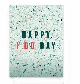 "Wenskaart Marble ""Happy i do day"""