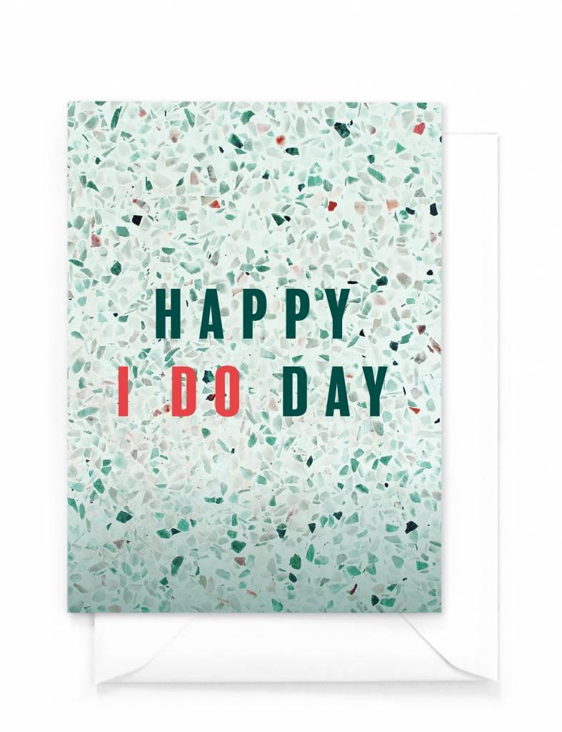 "Wenskaart Marble ""Happy i do day"""