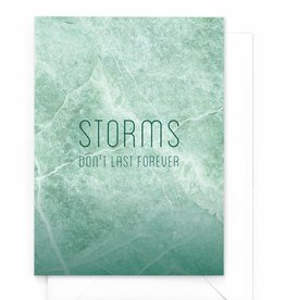 "Wenskaart Marble ""Storms don't last forever"""