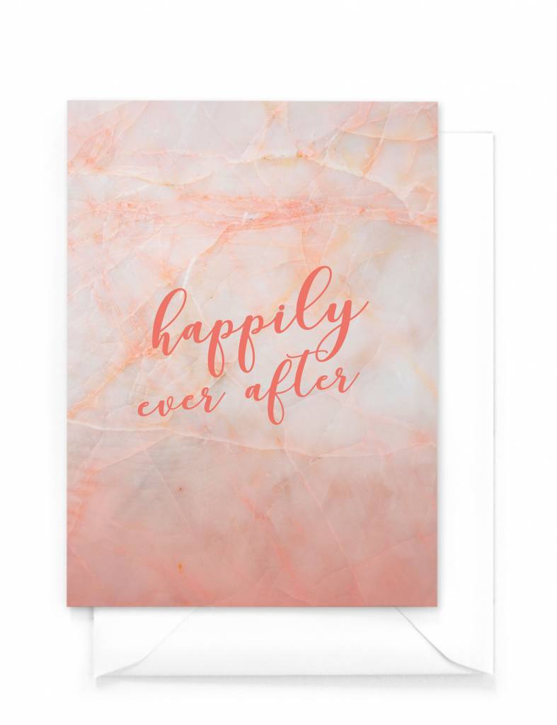 "Wenskaart Marble ""Happily ever after"""