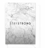 """Wenskaart Marble """"Stay strong"""""""