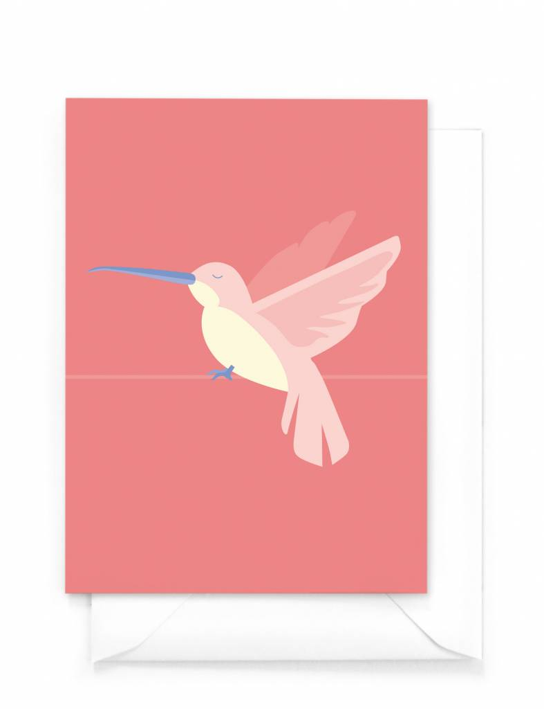 "Wenskaart Tropical-birds ""Kolibrie"