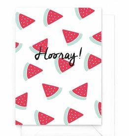 "Wenskaart Watermeloen ""Hooray"""