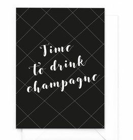 "Wenskaart Kerst ""Time to drink champagne"""
