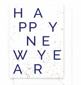 "Wenskaart nieuwjaar ""Happy New Year"""