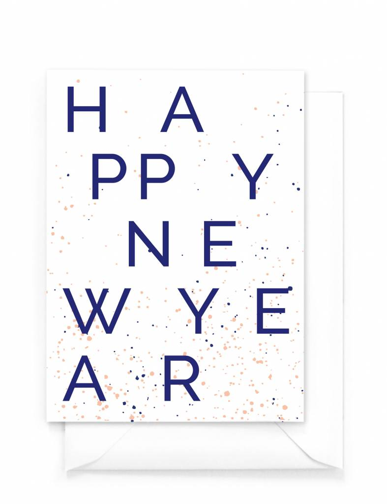 Wenskaart nieuwjaar - Happy New Year