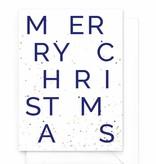 Wenskaart kerst - Merry Christmas