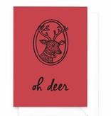 Wenskaart kerst - Oh deer