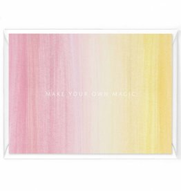 "Wenskaart Colorstripes ""Make your own magic"""
