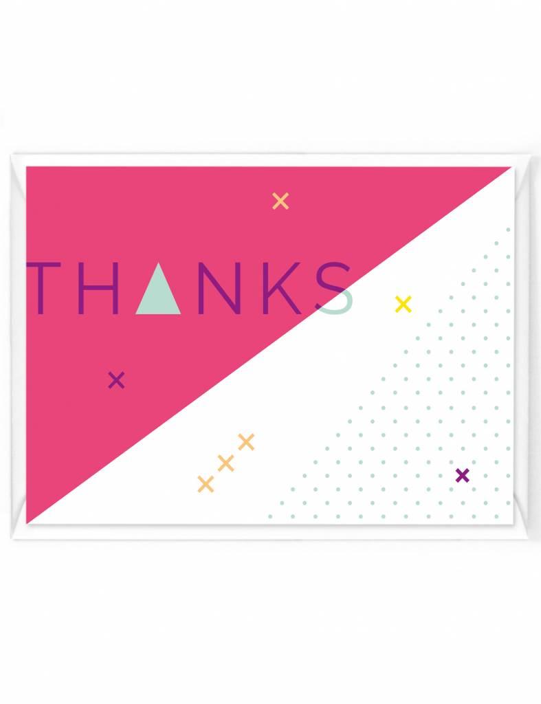 Wenskaart - Happy color - Thanks