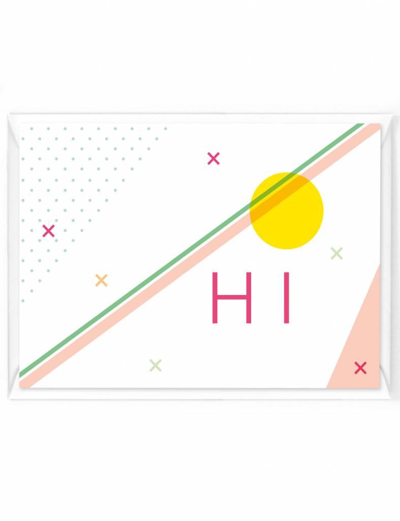 Wenskaart - Happy color - Hi