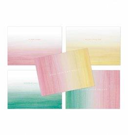 Wenskaartenset Colorstripes