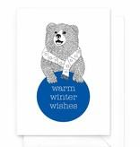 "Wenskaart - Kerst - ""Warm winter wishes"""