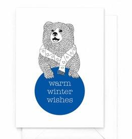 "Wenskaart Kerst ""Warm winter wishes"""