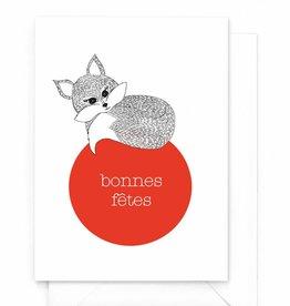 """Wenskaart Kerst """"Bonnes fêtes"""""""