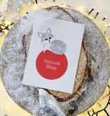 """Wenskaart - Kerst - """"Bonnes fêtes"""""""