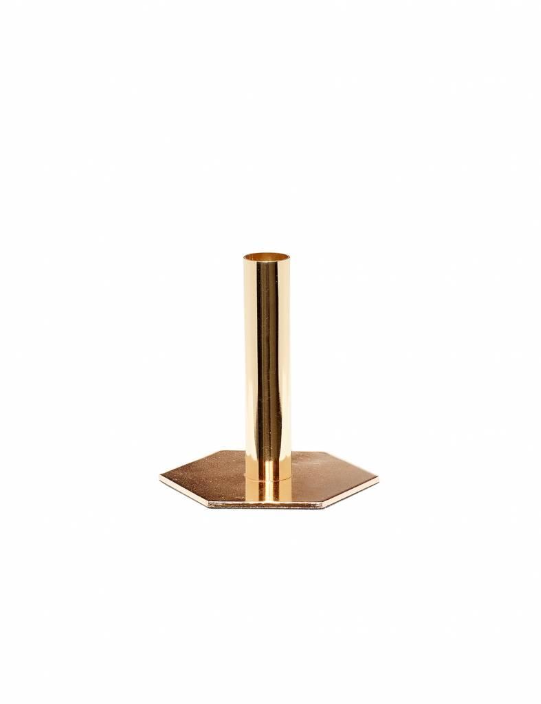 Gouden kandelaar Hübsch - groot